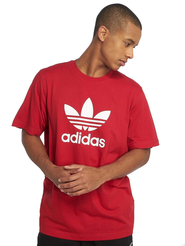 TALLA S. adidas Trefoil Pantalón, Hombre, Rojo (Rojpot), S