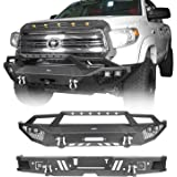 Hooke Road Tundra Front Bumper & Rear Step Bumper Combo Kit Compatible with Toyota Tundra 2014 2015 2016 2017 2018 2019 2020