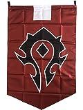 LinkStart Horde Alliance Badge Banner Flag Orc Emblem Poster (Red)