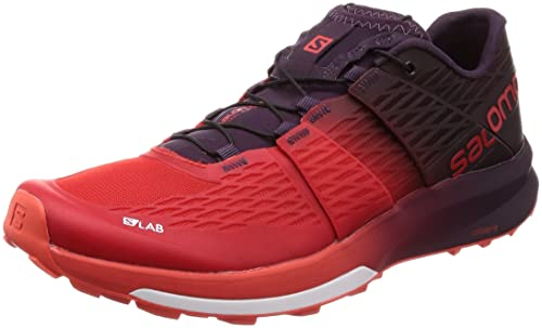 Salomon L39121500, Zapatillas de Senderismo Unisex Adulto, Rojo (Racing Red/Black/White), 46 EU