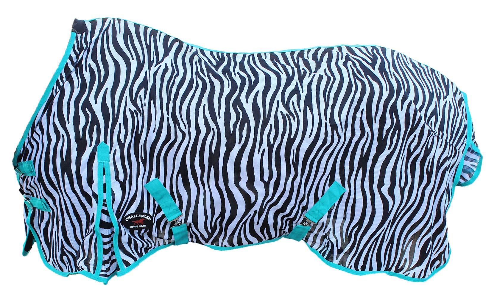 Challenger Horsewear 74'' Horse Fly Sheet Summer Spring Airflow Mesh UV Zebra 7321