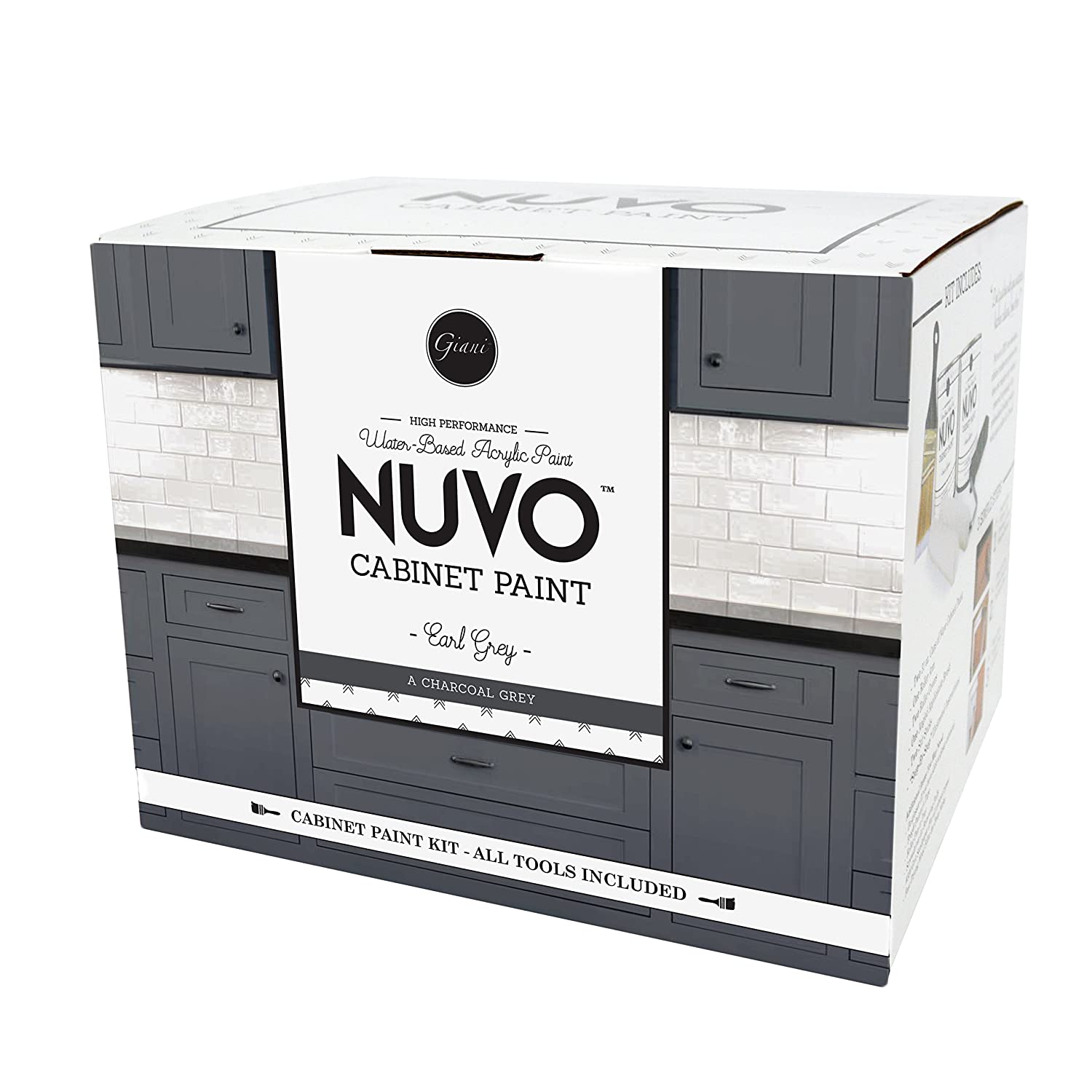 Nuvo Earl Grey All-in-One Cabinet Makeover Kit, Charcoal