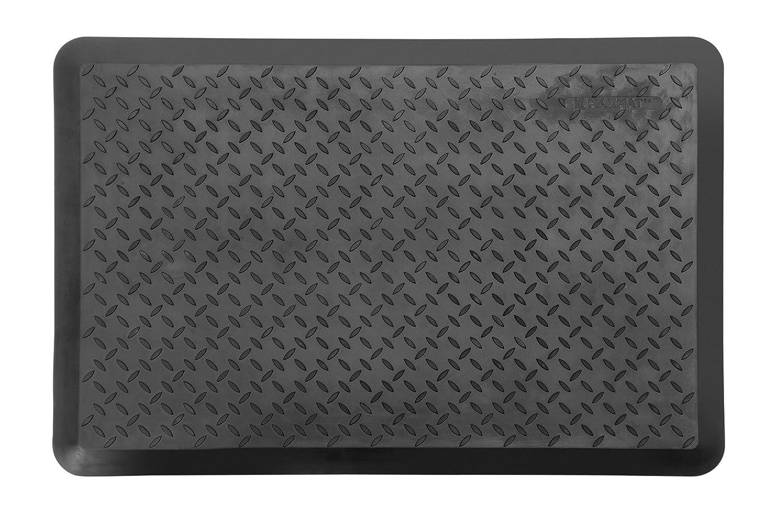 MaxMat Original Anti-Fatigue Diamond Plate Utility Tool Mats with 0.7 Thickness 24 L X 36 W Black