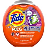Tide PODS 4 in 1, Plus Febreze, Laundry Detergent Liquid Pacs, Spring & Renewal, 61 Count - Packaging May Vary