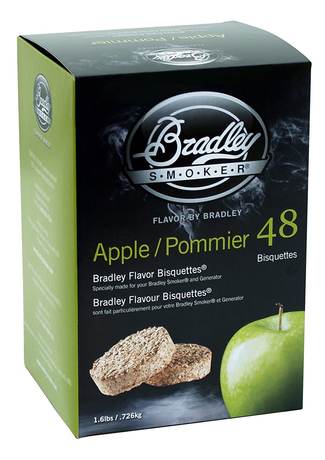Bradley Smoker Apple Flavour Bisquettes (Pack of 48) BTAP48