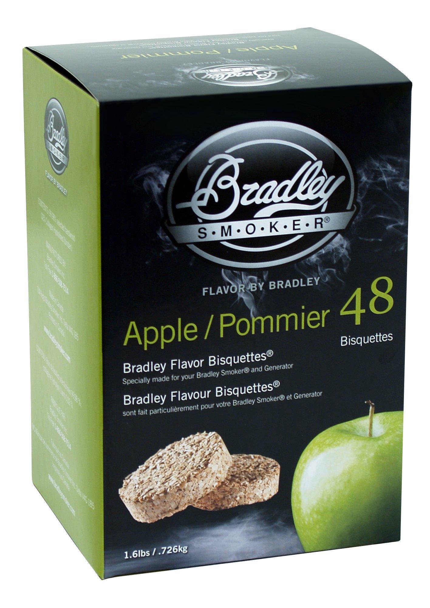 Bradley Smoker BTAP48 Apple/Pommier Bisquettes 48 pack by Bradley Smoker