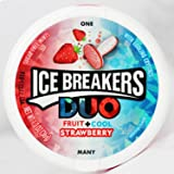 Ice Breakers Duo Fruit + Cool Mints Strawberry - 36 Grams