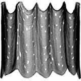 Elcoho 8.7 Yards x 79 Inches Giant Halloween Creepy Cloth Spooky Halloween Black Cloth Decoration for Haunted Houses,Windows, Ledges,Overhangs,Party Doorways Outdoors and Gates Decor