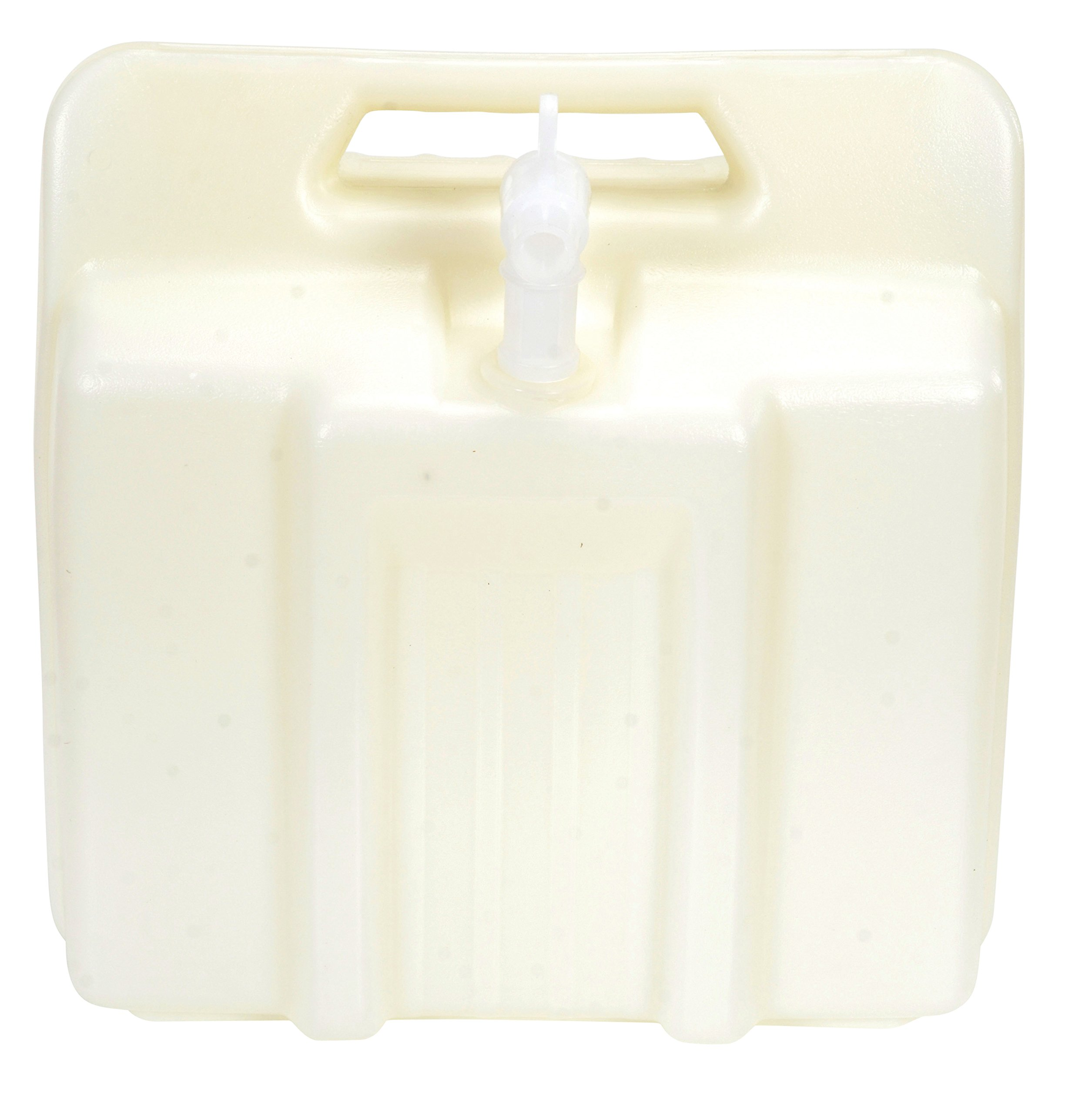 Vestil CARB-4-LP High Density Polyethylene (HDPE) Rectangular Low Profile Carboy with Handle and 3/4'' Polyethylene Spigot, 4 Gallon Capacity, Natural