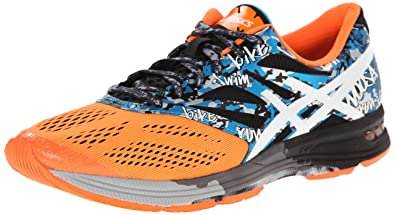 sports shoes 3c450 f970d ASICS Men s Gel-Noosa Tri 10 Running Shoe,Onyx White Flash Orange