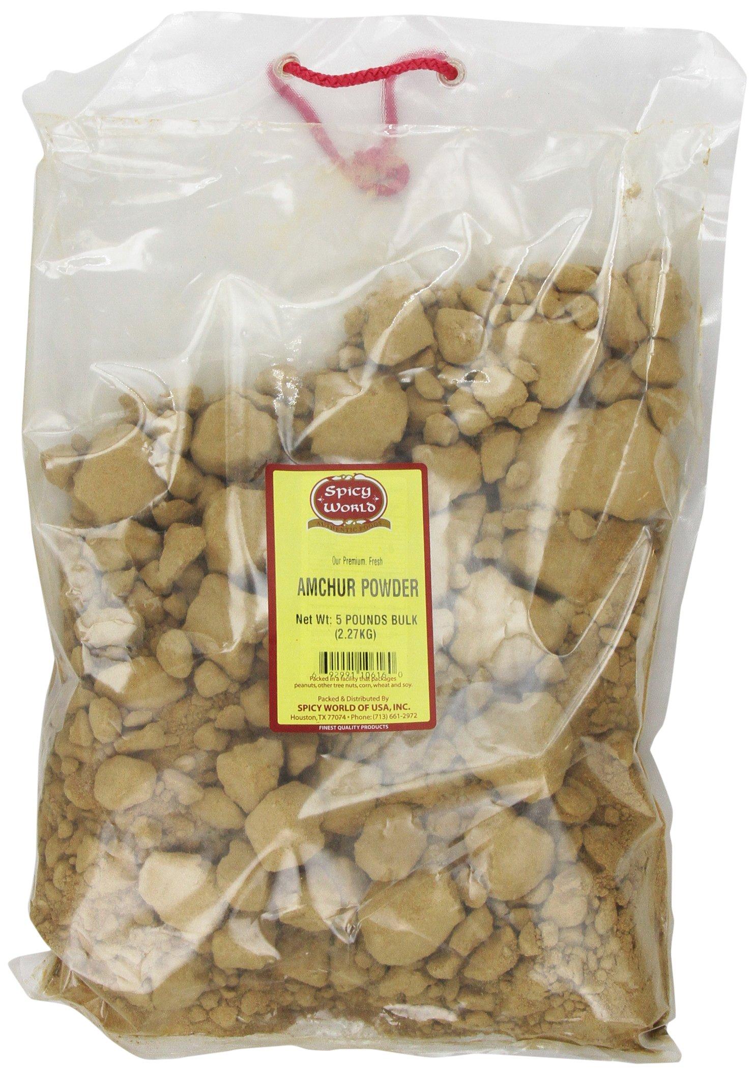 Spicy World Amchur (Dry Mango) Powder Bulk, 5-Pounds