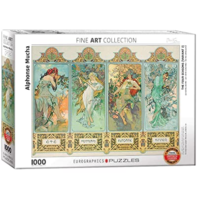 EuroGraphics Four Seasons by Alphonse Maria Mucha (1000 Piece) Puzzle: Toys & Games