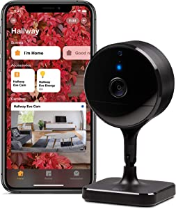 Eve Cam - Secure Indoor Camera, 100% Privacy, Apple HomeKit Secure Video, iPhone/iPad/Apple Watch Notifications, Motion Sensor, Microphone and Speaker, People/pet Recognition, Flexible Installation