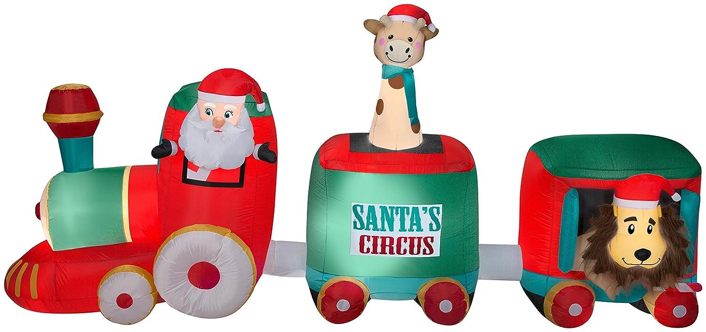 Amazon.com: Gemmy - Bandeja hinchable para tren de Papá Noel ...
