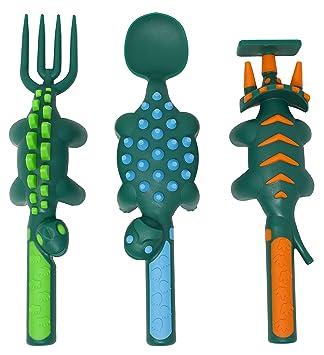 Amazon.com: Juego de utensilios de comer para bebés, bebés y ...