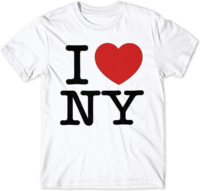 LaMAGLIERIA Camiseta Hombre I Love NY - t-Shirt 100% algodón ...