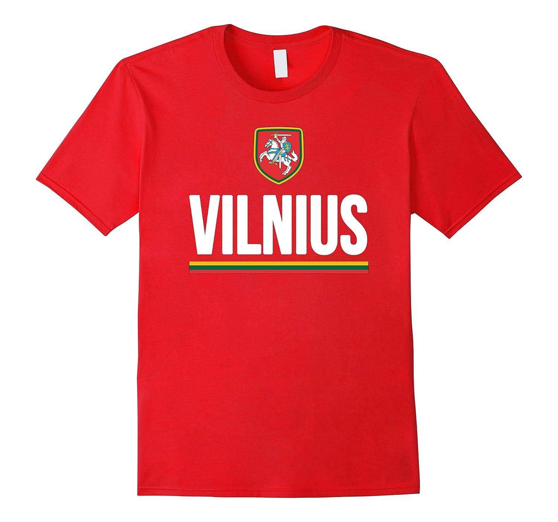 Vilnius Lithuania T-shirt Lietuva City Souvenir Flag Tee-CD
