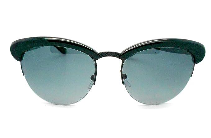 92276892d9 Amazon.com  Bottega Veneta B.V 199 S Black round Sunglasses  Clothing
