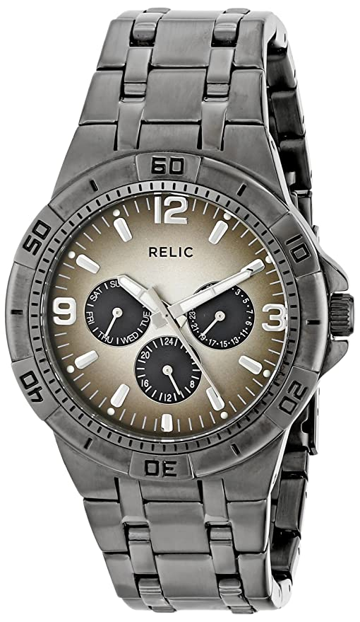 Amazon Relic Mens Quartz Stainless Steel Casual Watch Color