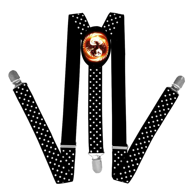 FVSD4VFD15 Nice Unique Fenix Phoenix Fire Suspender Unisex Suspender Adjustable Y-Back