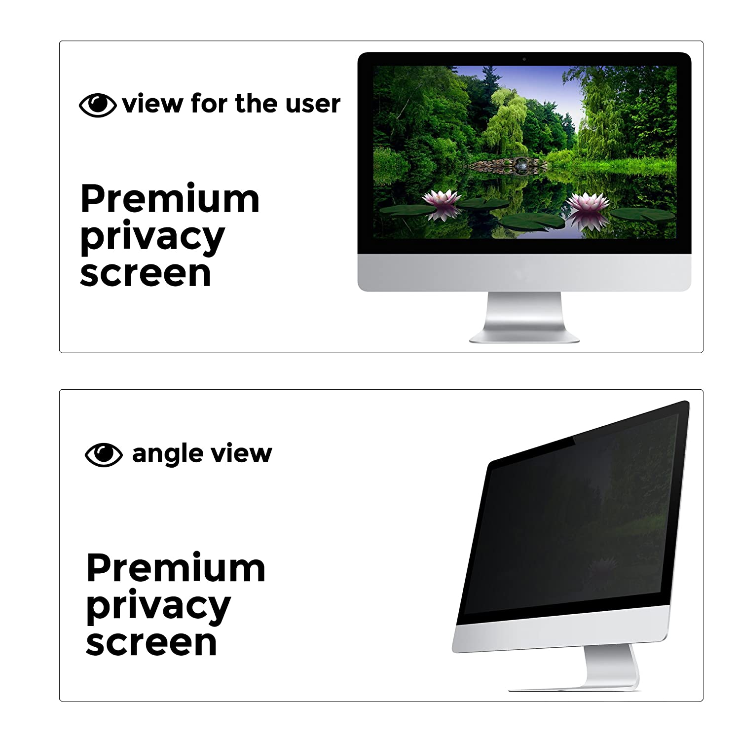 Widescreen 16:9 Ratio Computer Privacy Screen Filter for Desktop LCD Monitor Display Anti-Glare Check Your Monitor Size Diagonally Measured Anti-Scratch Protector Film 23 inch