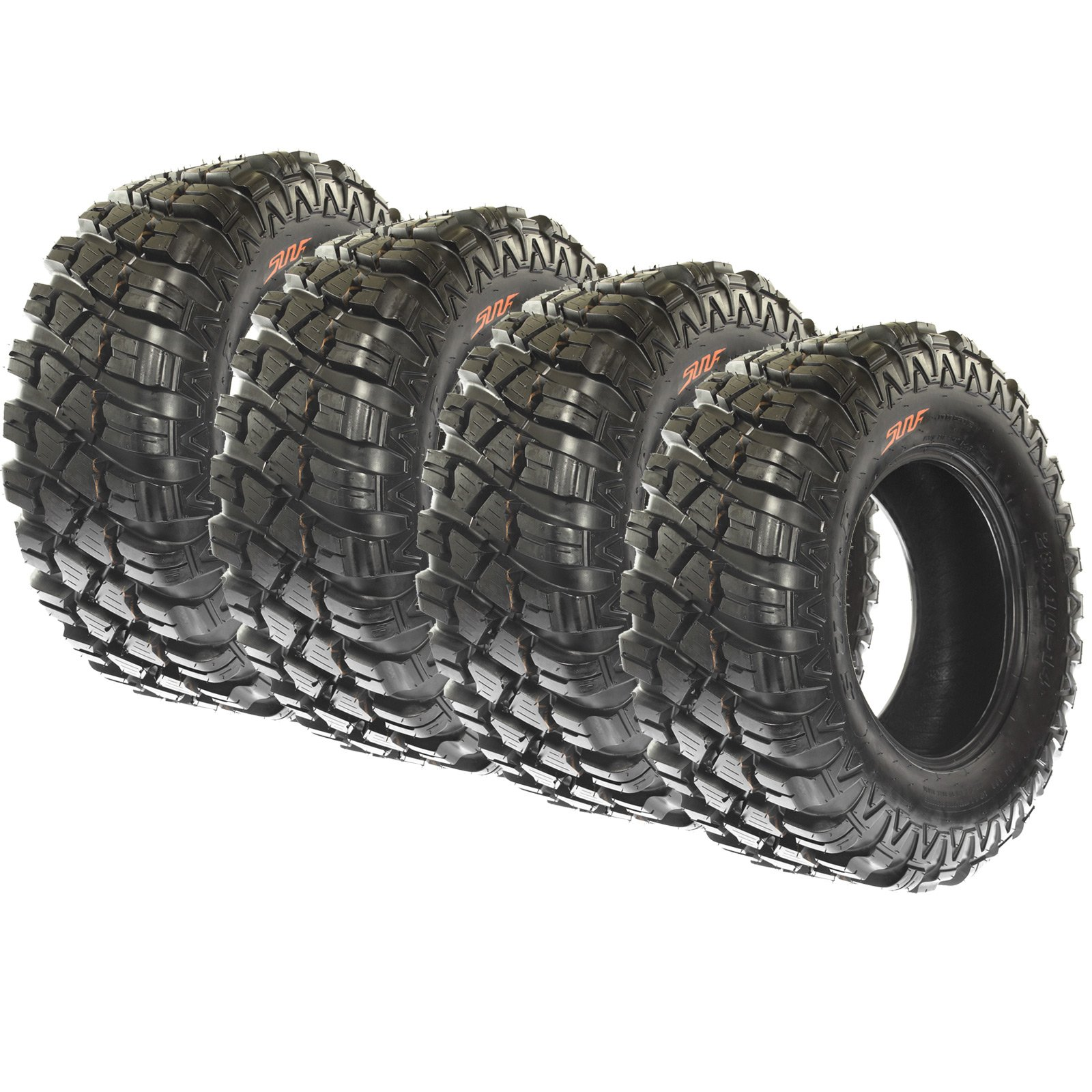 SunF Set of 4 A047 All Terrain Trail ATV UTV Tires 28x10-14, 8 Ply