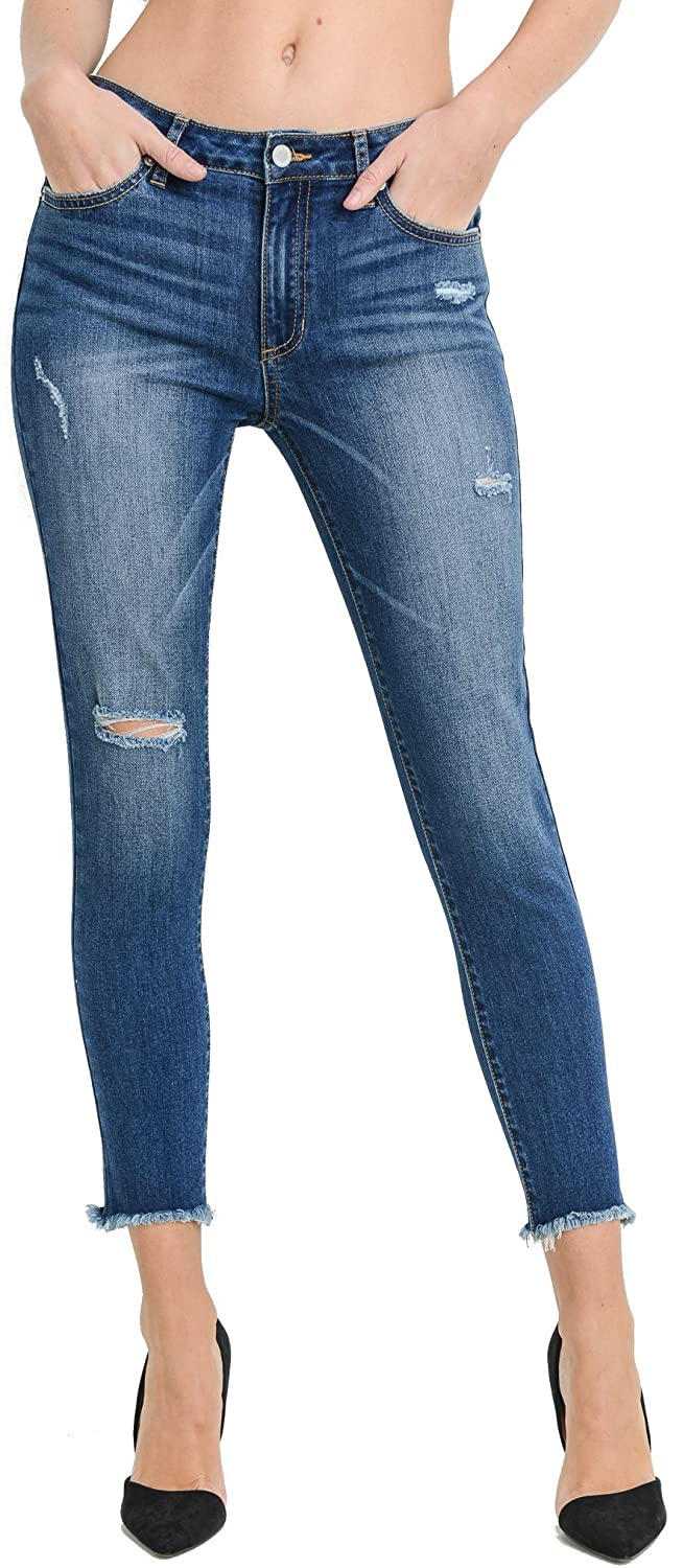 2ad9c57ed73 Just USA Jeans Women's High Rise Basic Skinny Denim Pants at Amazon Women's  Jeans store