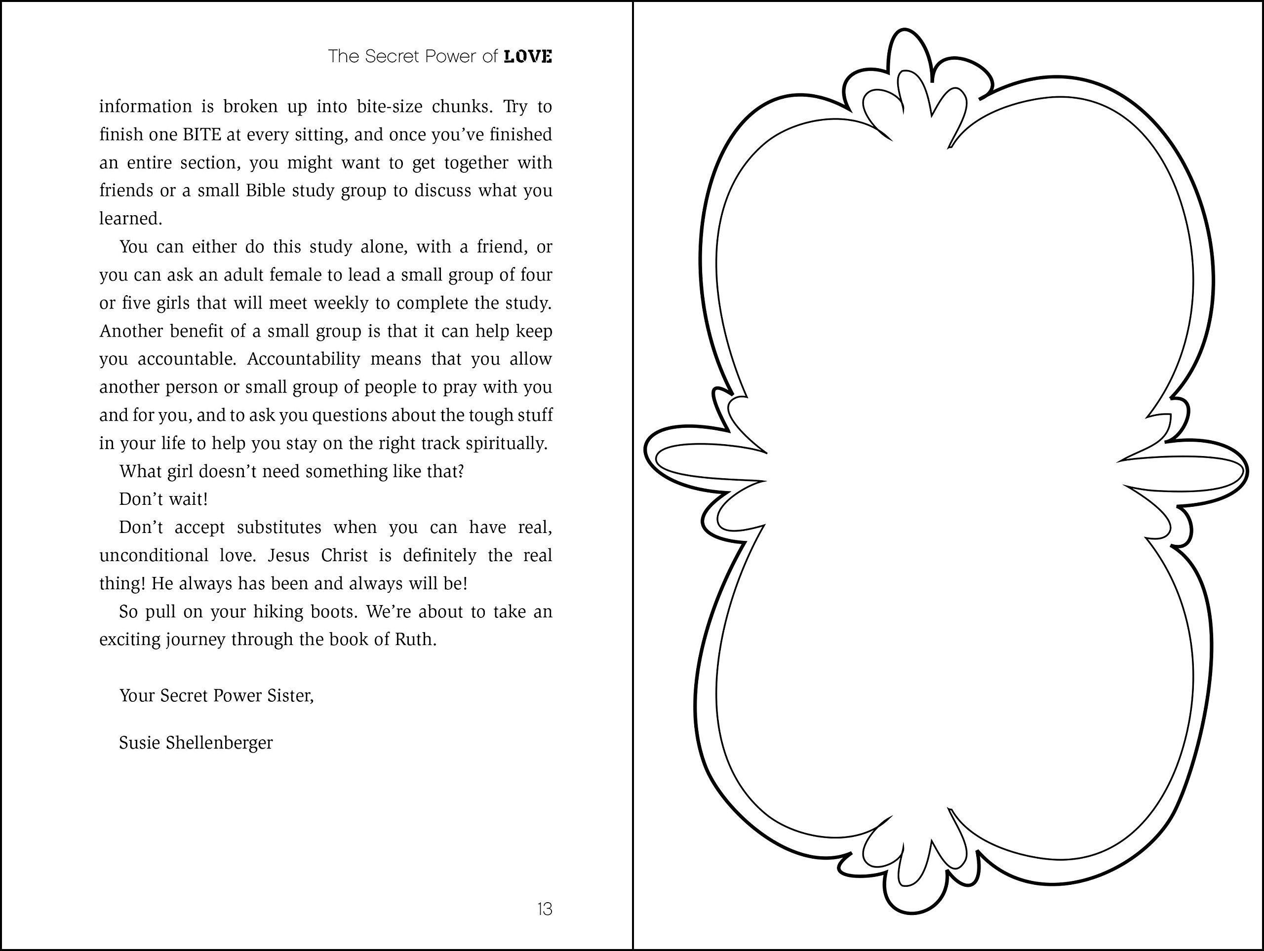 The Secret Power Of Love: The Book Of Ruth (faithgirlz Bible Study): Susie  Shellenberger: 9780310728382: Amazon: Books