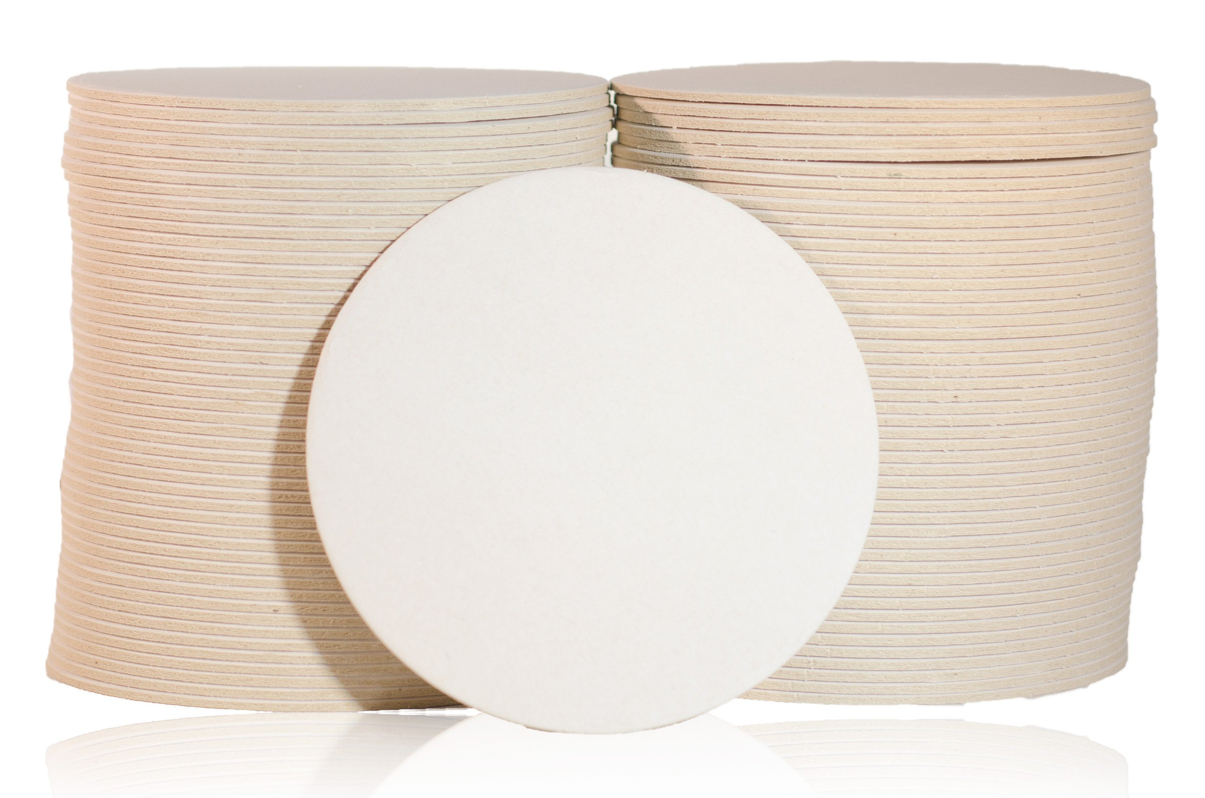 Katz Americas 3.5'' Round Heavyweight (80pt) Blank Pulpboard Coaster (Case of 1,000)