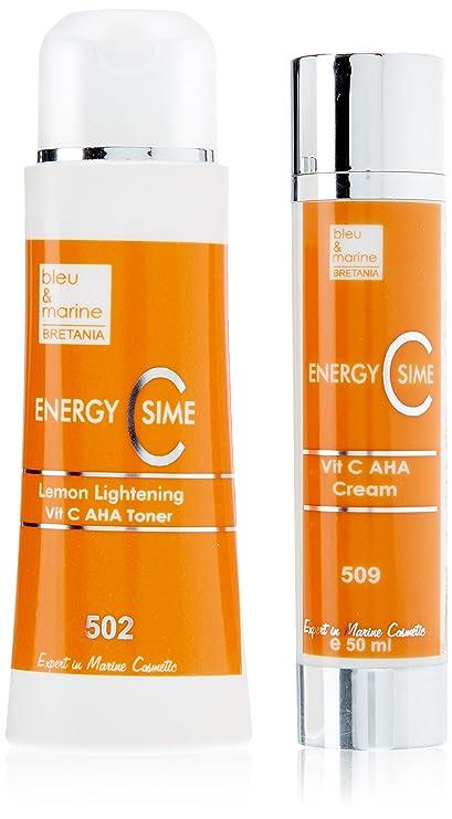 Energía sencilla aligeramiento Limón Vitamina C + AHA tóner Vitamina C + AHA Crema calentamiento propio