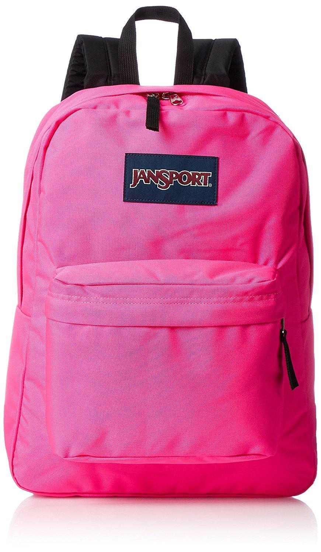 JanSport Superbreak Backpack - Ultra Pink - Classic, Ultralight
