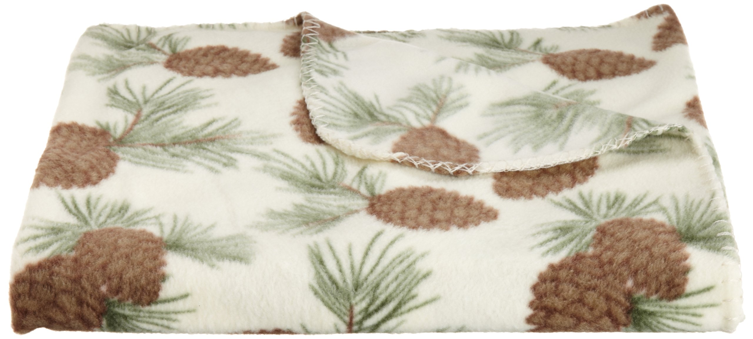 DII Pinecone Lodge Fleece Throw, 50 by 60-Inch