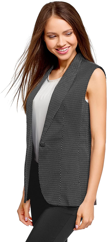 oodji Ultra Women's Classic Vest in Textured Fabric