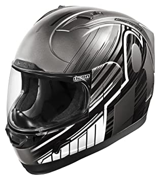 Icon Alliance Overlord - Casco de moto, color negro y gris