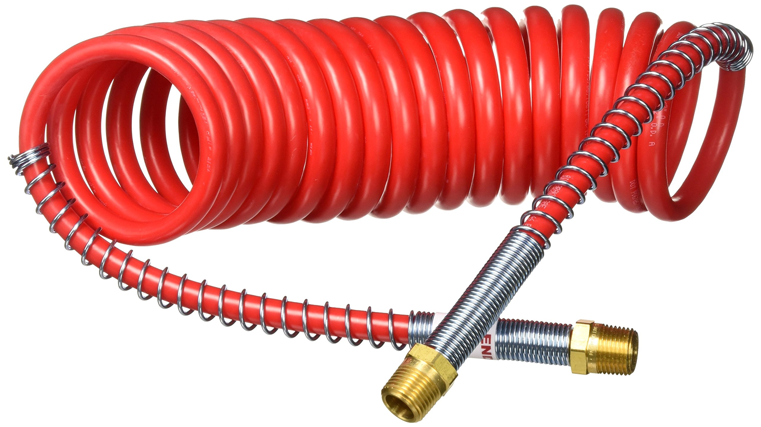 Tectran 16215R Industry Grade Aircoil, Red, 15' Tractor, 12'' Pigtail Length Trailer End