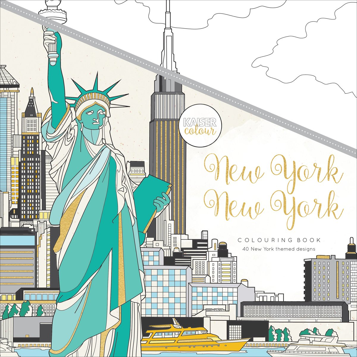 Kaisercraft New York KaiserColour Perfect Bound Coloring Book, 9.75X9.75 9.75X9.75 CL552