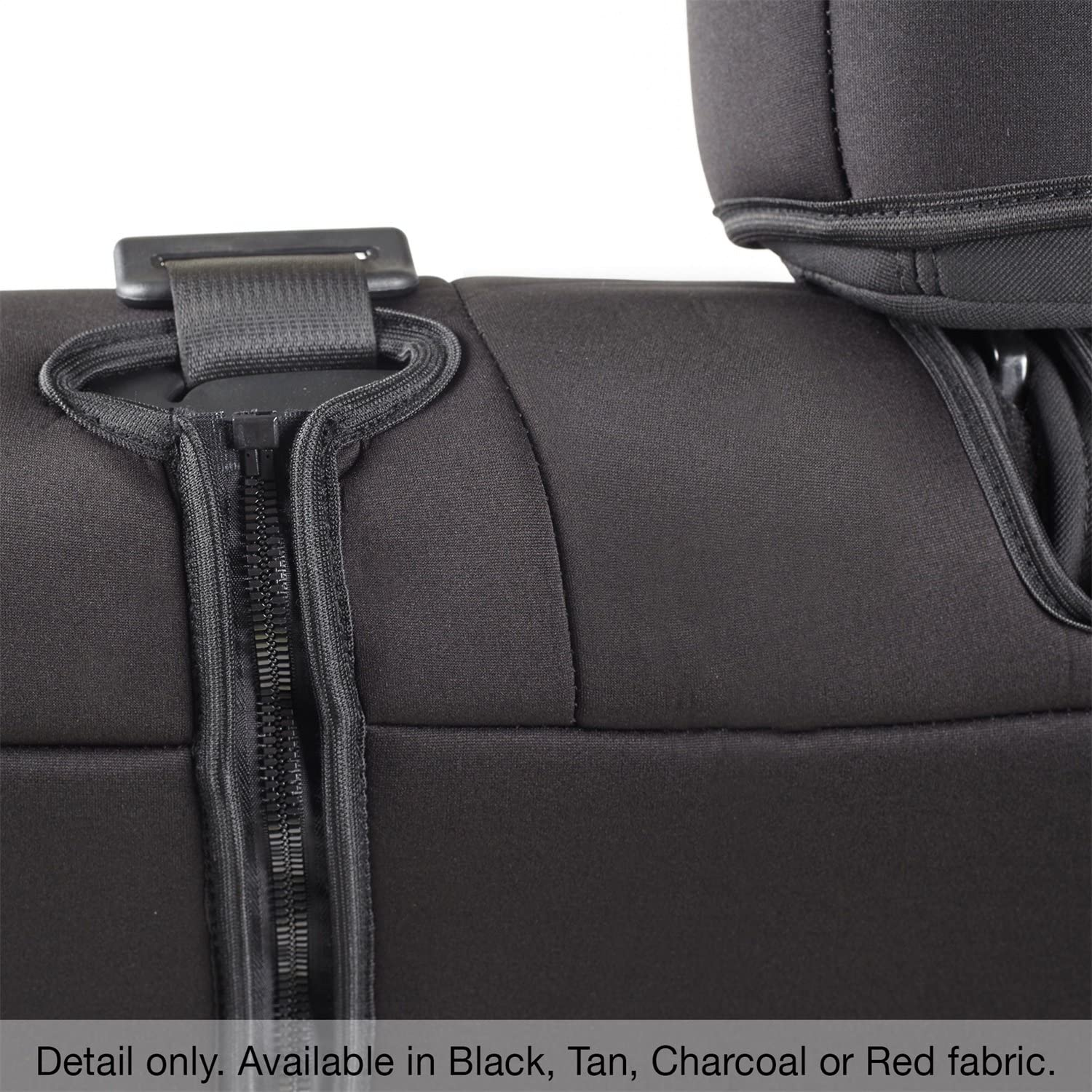 Jeep JK 08-12 4-DR Rear Pair Neoprene Seat Covers Smittybilt Black//Red Front