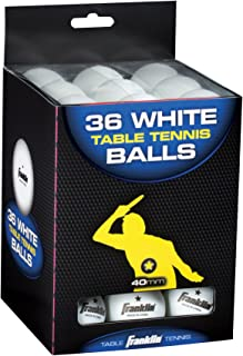 Franklin Sports 1 Star Balles de tennis de table, 40 mm, lot de 6, 12, 18, 36, et 144 40 mm 2048 blanc/orange 40 mm Inc.
