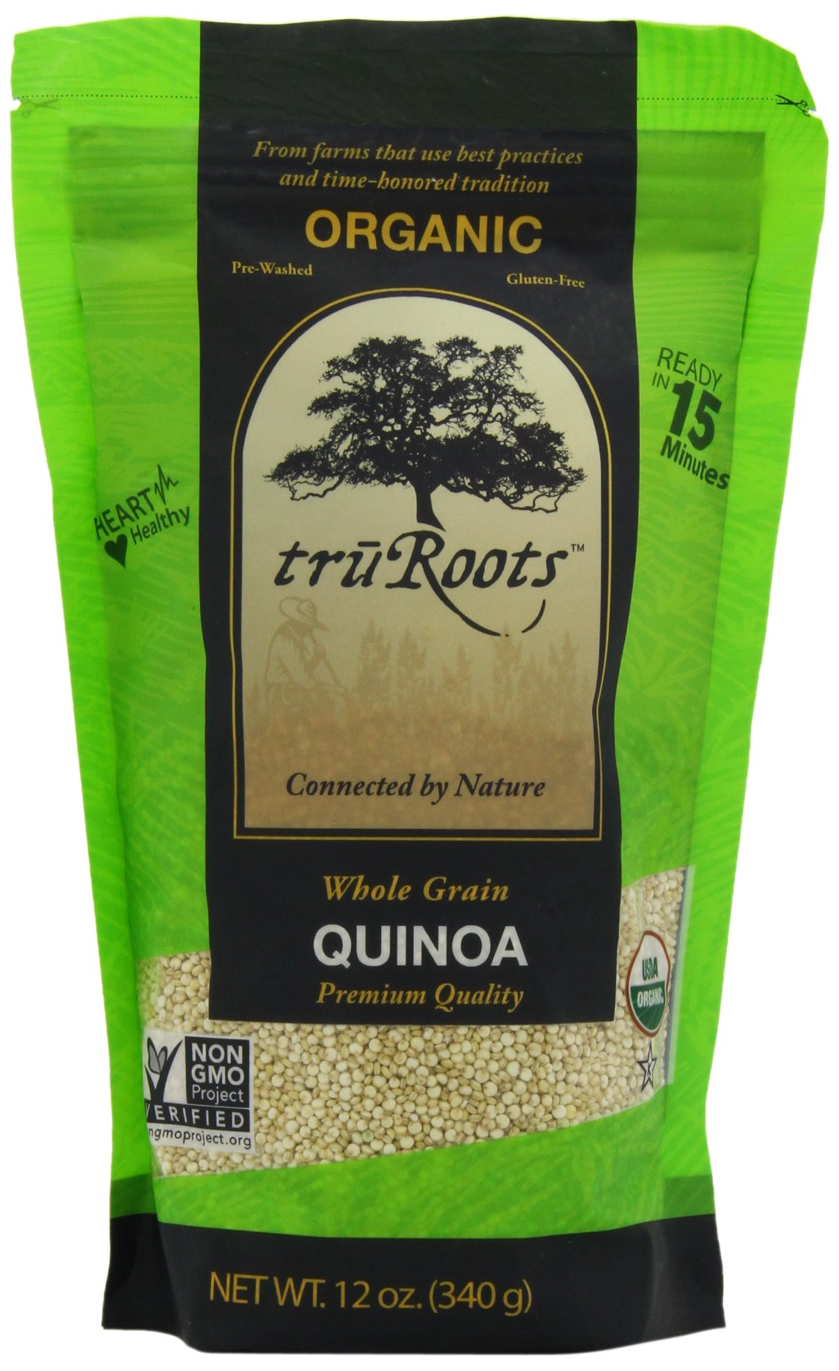 truRoots Organic Quinoa, 12-Ounce Pouches (Pack of 6)