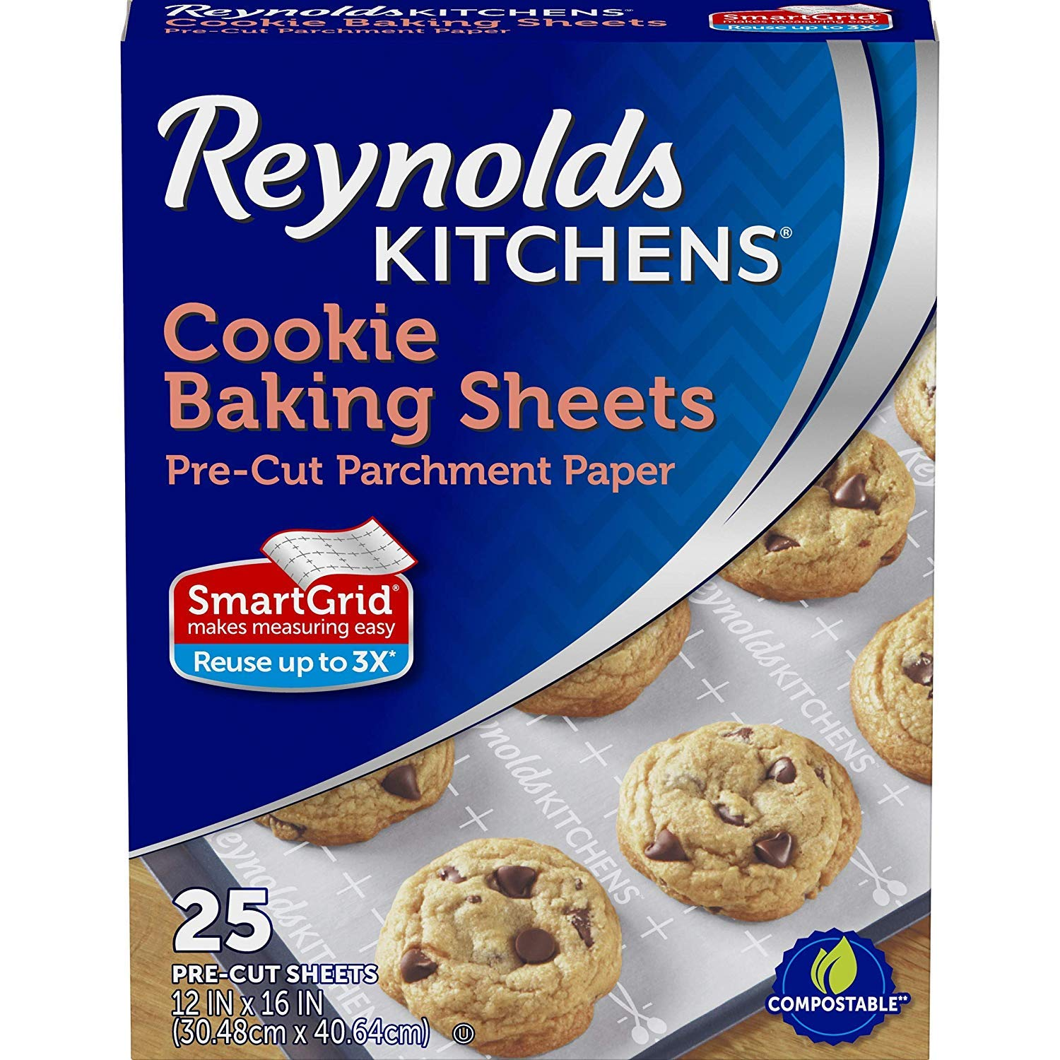 Reynolds Kitchens Non-Stick Baking Parchment Paper Sheets - 12x16 Inch, 100 Sheets (4 Pack (25 Sheets))