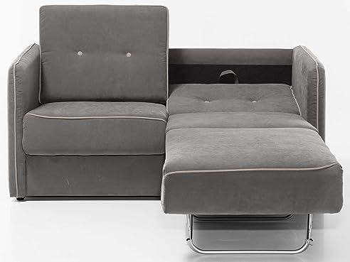 Schlafcouch weiß  Schlafsofa Merina Grau Blau Weiß Mikrofaser Stoff Sofa Couch ...
