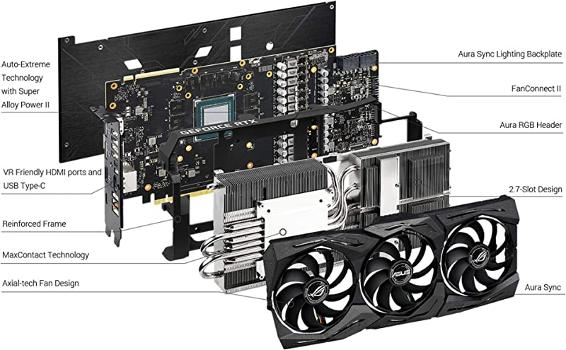 ASUS ROG STRIX GeForce RTX 2070 SUPER Advanced Overclocked 8G GDDR6 HDMI DisplayPort USB Type-C Gaming Graphics Card (ROG-STRIX-RTX-2070S-A8G-GAMING)