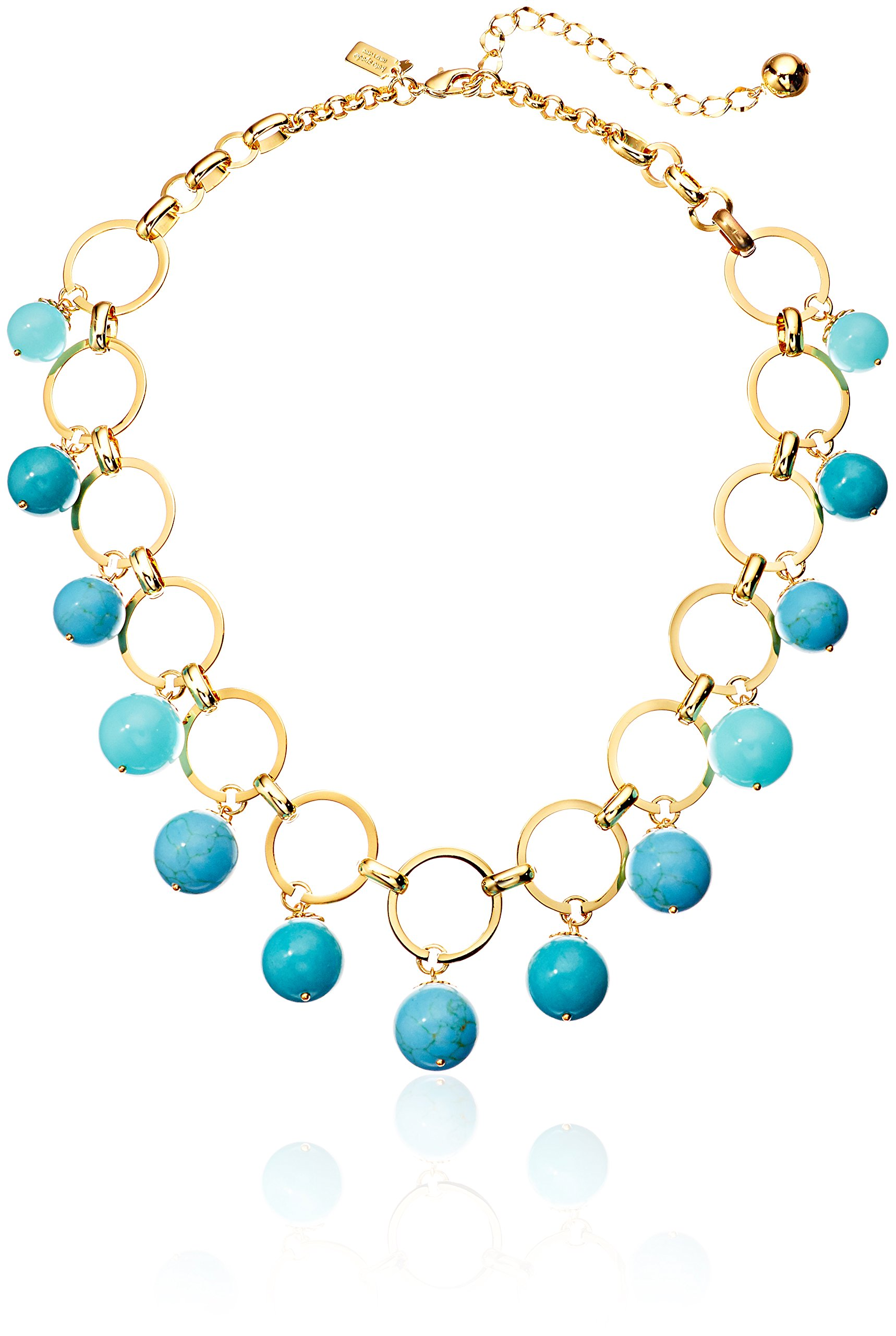 kate spade new york Statement Turq Necklace, 17'' + 5'' Extender