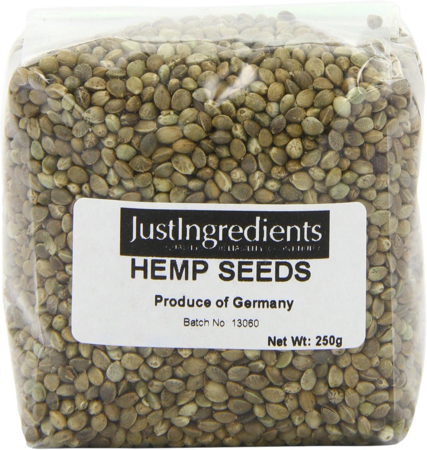 JustIngredients Essential Semillas de Cáñamo - 250 gr