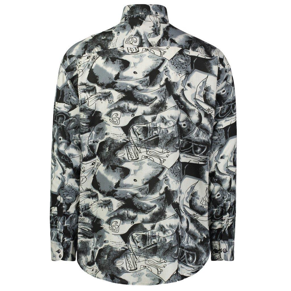 b967336315dd Gentlemens Collection Light-Weight Batik Modern Design Long-Sleeve- Tropical  Hawaiian Printed Shirt at Amazon Men s Clothing store