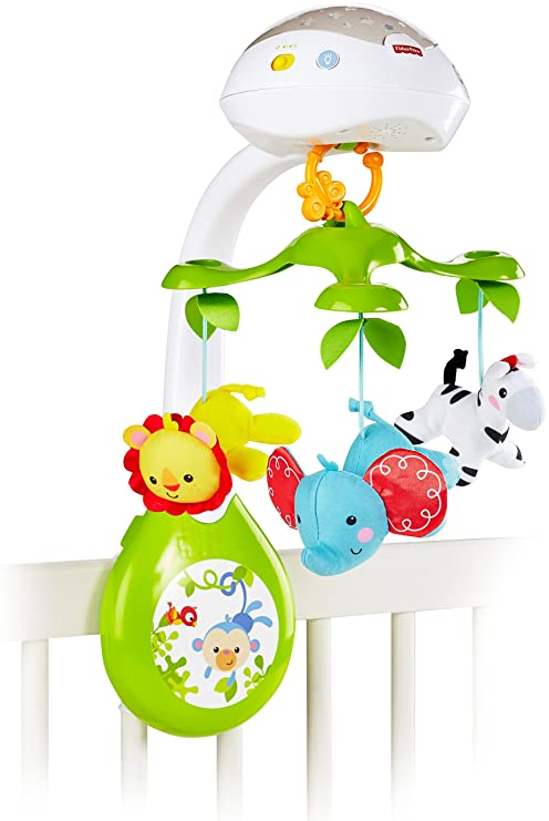 Fisher-Price Deluxe Projection Mobile, Rainforest Friends 3-in-1 by Fisher-Price: Amazon.es: Bebé