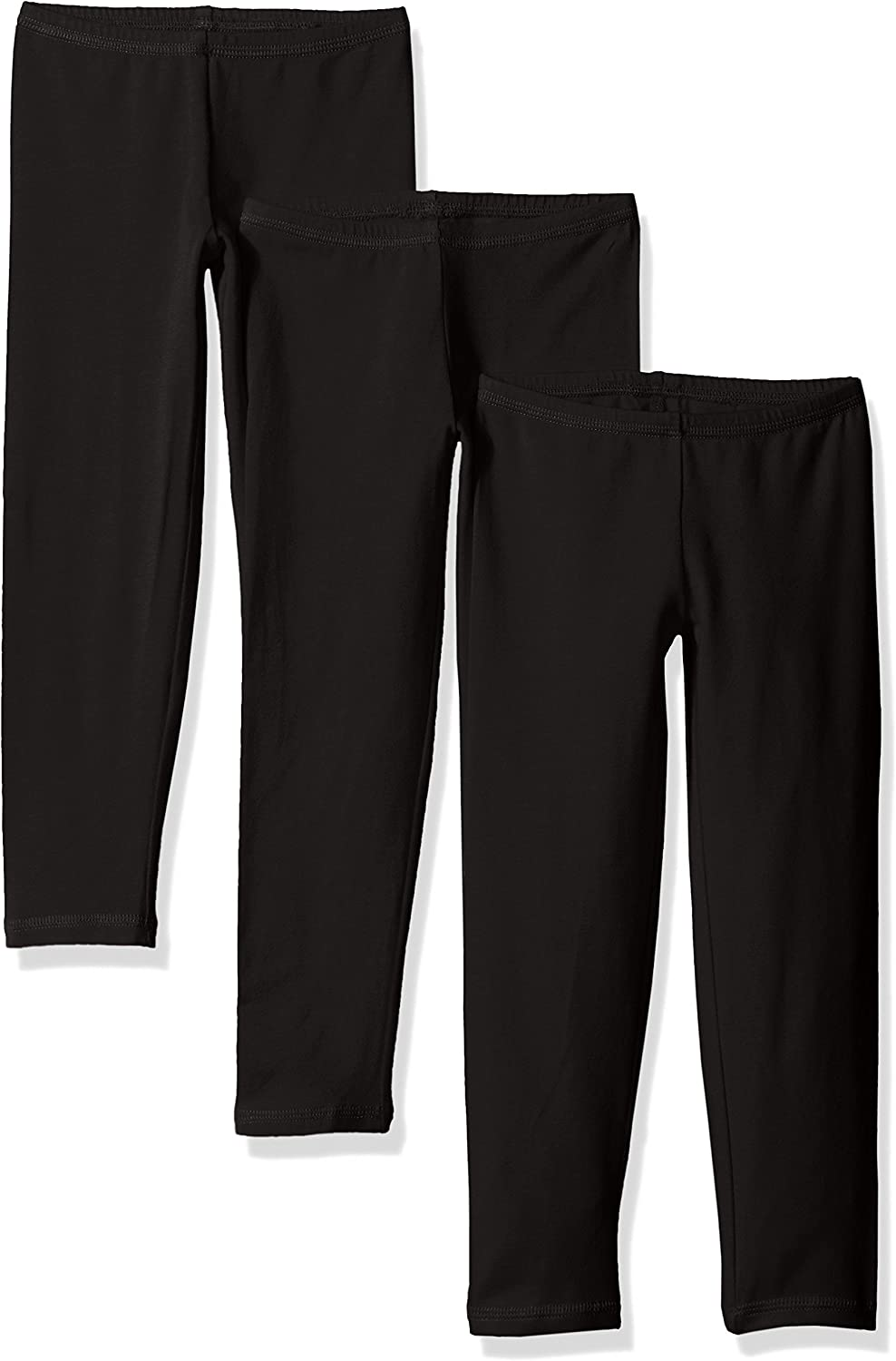 Hanes Little Girls' Leggings (Pack of 3): Clothing