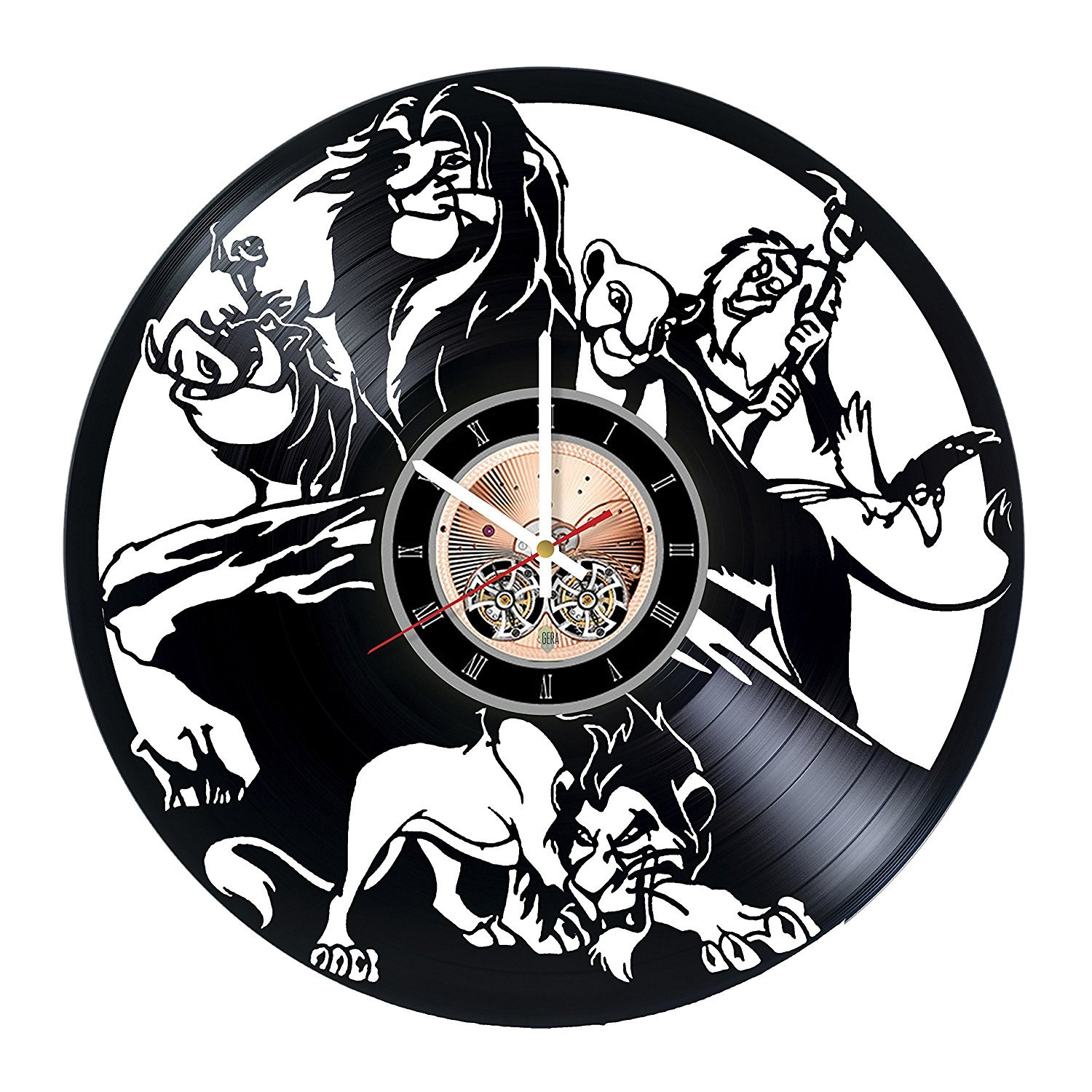 Amazon.com: The Lion King Vinyl Record Wall Clock - Kids Room wall decor - Gift ideas for sister and brother, teens - Cartoon Unique Art Design: Home & ...