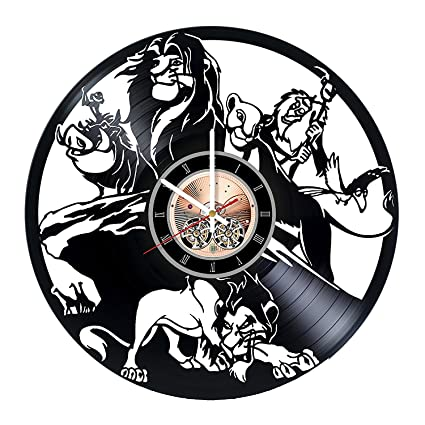 The Lion King Vinyl Record Wall Clock - Kids Room wall decor - Gift ideas for