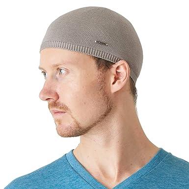 f3bac2de4 CHARM Mens 100% Silk Skull Cap - Kufi Beanie Hat Summer Snug Tight Helmet  Wear